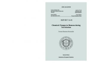 REPORT Chemical Changes in Biomass during