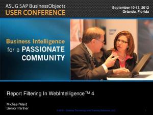 Report Filtering In WebIntelligence 4