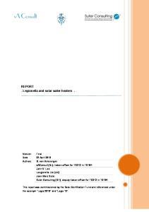 REPORT - Legionella and solar water heaters -
