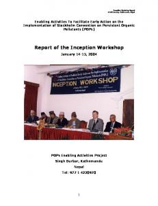 Report of the Inception Workshop