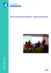Report of the Utrecht Workshop - Regional assessment