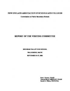 REPORT OF THE VISITING COMMITTEE