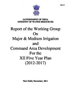 Report of the Working Group On Major & Medium Irrigation and Command Area Development For the XII Five Year Plan ( )