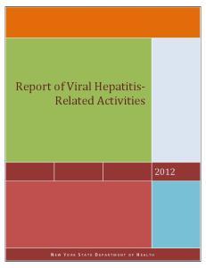 Report of Viral Hepatitis- Related Activities