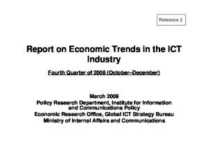 Report on Economic Trends in the ICT Industry