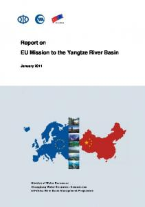 Report on EU Mission to the Yangtze River Basin
