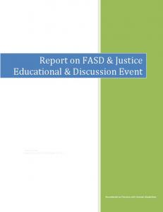 Report on FASD & Justice Educational & Discussion Event