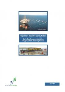 Report on industry consultation