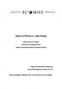 Report on Mission to Luang Prabang