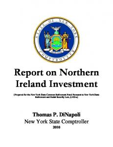 Report on Northern Ireland Investment