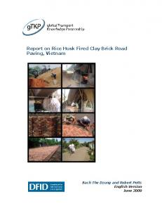 Report on Rice Husk Fired Clay Brick Road Paving, Vietnam
