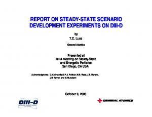 REPORT ON STEADY-STATE SCENARIO DEVELOPMENT EXPERIMENTS ON DIII-D