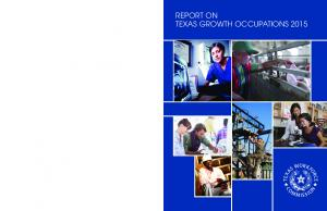 REPORT ON TEXAS GROWTH OCCUPATIONS 2015