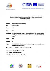 Report on the Zsira-Lutzmannsburg pilot area scenario modelling study