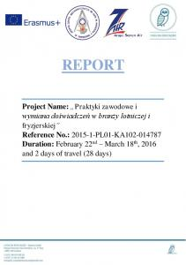 REPORT Project Name: Reference No.: Duration: