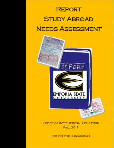 Report Study Abroad Needs Assessment