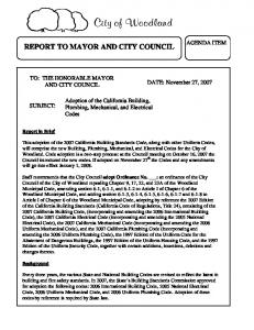 REPORT TO MAYOR AND CITY COUNCIL