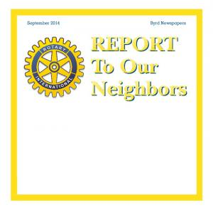 REPORT To Our Neighbors. Service Above Self
