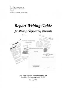 Report Writing Guide