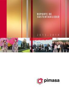 REPORTE DE SUSTENTABILIDAD REPORTE DE RESPONSABILIDAD SOCIAL EMPRESARIAL