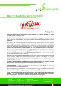 Reporte Exclusivo para Miembros REVELADO