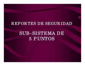 REPORTES DE SEGURIDAD SUB-SISTEMA DE 5 PUNTOS