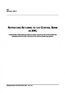 REPORTING RETURNS TO THE CENTRAL BANK