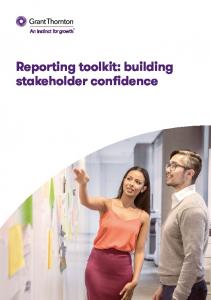 Reporting toolkit: building stakeholder confidence