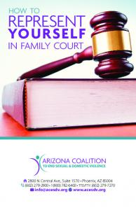 represent yourself in family court how to