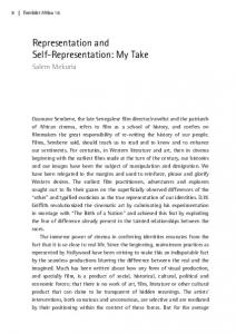 Representation and Self-Representation: My Take