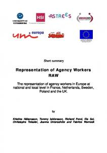 Representation of Agency Workers RAW