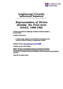 Representation of Breton identity: the Pont-Aven School,