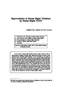 Representation of Human Rights Violations by Human Rights NGOs*