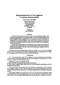 Representations of Lie algebras in prime characteristic