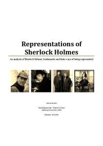Representations of Sherlock Holmes