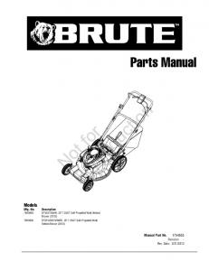 Reproduction. Not for. Parts Manual