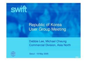 Republic of Korea User Group Meeting