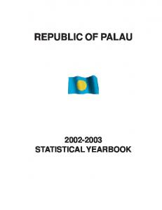 REPUBLIC OF PALAU STATISTICAL YEARBOOK