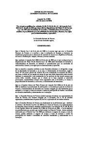 REPUBLICA DE PANAMA COMISION NACIONAL DE VALORES. Acuerdo No (de 9 de marzo de 2005)
