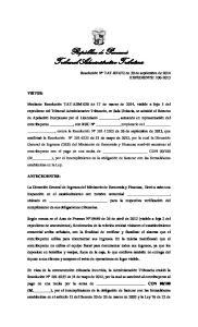 República de Panamá Tribunal Administrativo Tributario