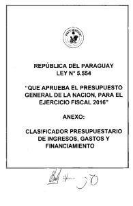 REPUBLICA DEL PARAGUAY LEY N