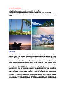 REPUBLICA DOMINICANA BOCA CHICA