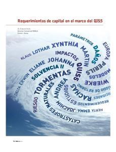 Requerimientos de capital en el marco del QIS5