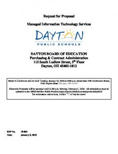 Request for Proposal. Managed Information Technology Services