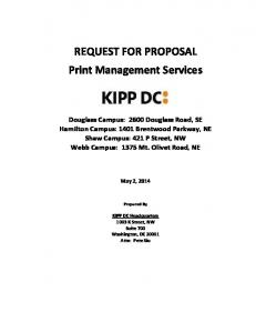 REQUEST FOR PROPOSAL Print Management Services