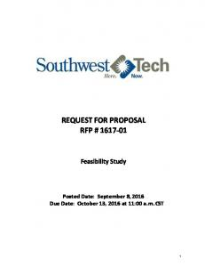REQUEST FOR PROPOSAL RFP #