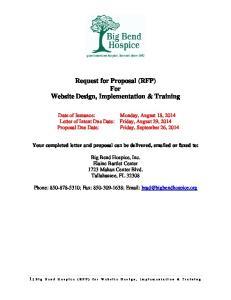 Request for Proposal (RFP) For Website Design, Implementation & Training