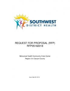 REQUEST FOR PROPOSAL (RFP) RFP