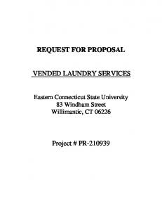 REQUEST FOR PROPOSAL VENDED LAUNDRY SERVICES