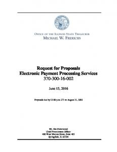 Request for Proposals Electronic Payment Processing Services